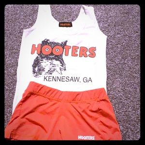 Authentic Hooter girl uniform in orange and white